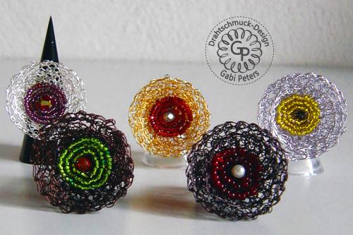gehäkelte Ringe aus Draht