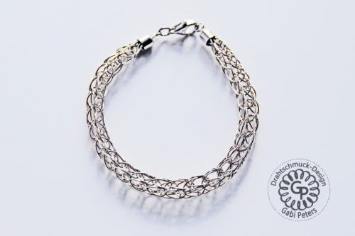 Sterling Silber Strickarmband aus Draht